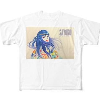 笑う Full graphic T-shirts
