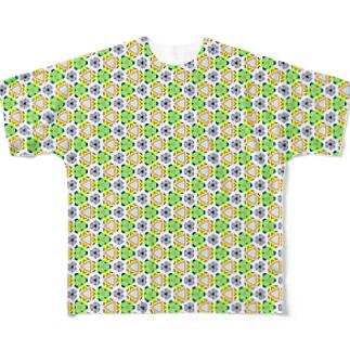 旅と、日記と、総柄。のLa Bocaなのに色が淡いよ Full graphic T-shirts