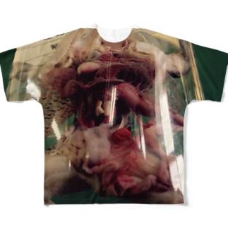 トノサマガエルのホルマリン漬け Full graphic T-shirts