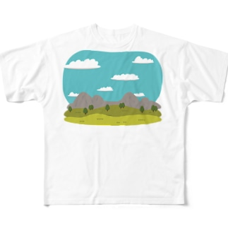 LandscapeMountain Full graphic T-shirts