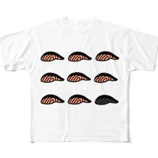 すきすきサーモン Full graphic T-shirts