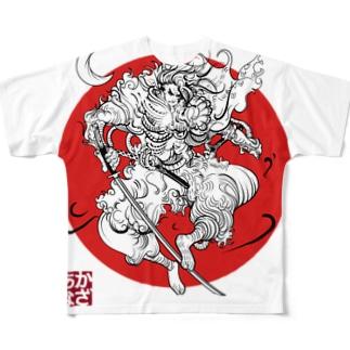 前田慶次 Full graphic T-shirts