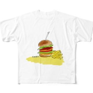 ハンバーガー Full graphic T-shirts