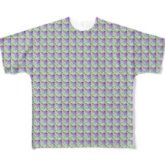 旅と、日記と、総柄。のLa Bocaは、ゆかもかわいいメーン Full graphic T-shirts