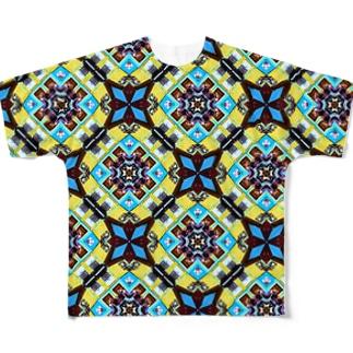 旅と、日記と、総柄。のLa Bocaの風はまだまだ吹くぜメーン Full graphic T-shirts