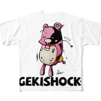 GEKI SHOCK BEAR Full graphic T-shirts