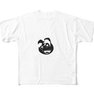 お犬パイセン「パチャンガ隊長」 Full graphic T-shirts