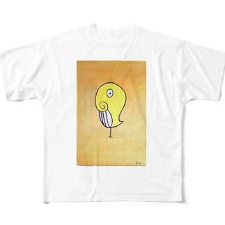 クジラトリ Full graphic T-shirts