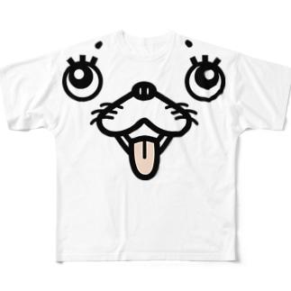 犬顔 Full graphic T-shirts