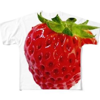 いちご苺イチゴ! Full graphic T-shirts