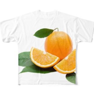 柑橘!フルーツ!オレンジ! Full graphic T-shirts