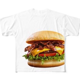 バーガー!hamburger!ハンバーガー! Full graphic T-shirts