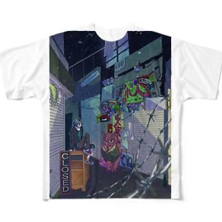 閉店後 Full graphic T-shirts