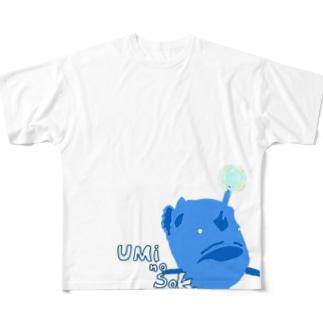 チョウチンアンコウくん Full graphic T-shirts