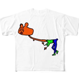クールなハムスター Full graphic T-shirts