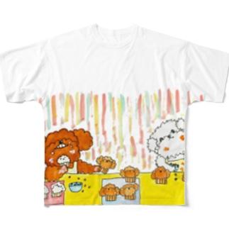 シェリガジュ「マフィン作り」 Full graphic T-shirts