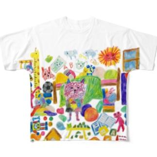 グシャグシャの部屋 Full graphic T-shirts