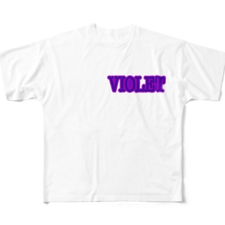 VIOLET Full graphic T-shirts