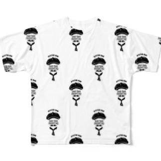 MEN'S WHITE ALL LOGO TEE Full graphic T-shirts