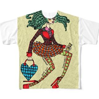 ヴィヴィ子 Full graphic T-shirts