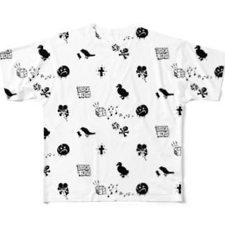 BLACKTOY5 MONO Ver.3 Full graphic T-shirts