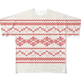 ノルディック -Nordic-Pink- Full graphic T-shirts