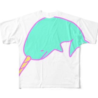 イッカクのジュウちゃん Full graphic T-shirts