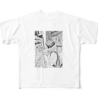 おみくじ Full graphic T-shirts