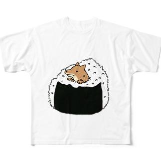 おにぎり具犬 Full graphic T-shirts