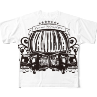 バニラde高収入ショップ[SUZURI店]のVANILLA TRUCK Full graphic T-shirts