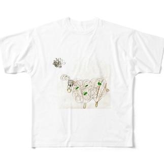 さみしいヒツジ Full graphic T-shirts