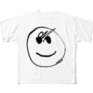 我が子が4回目に描いた顔 Full graphic T-shirts