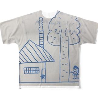 聖委員長のイラスト Full graphic T-shirts