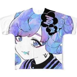 くろゑちゃんTシャツ Full graphic T-shirts