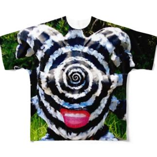 渦巻き男 Full graphic T-shirts