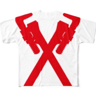 パイプレンチ 配管工 Full graphic T-shirts