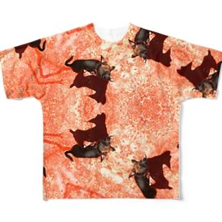遠い目で僕を見つめるチワワ Full graphic T-shirts