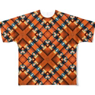 旅と、日記と、総柄。のキューバといえば葉巻!かと思わせてラム酒 Full graphic T-shirts