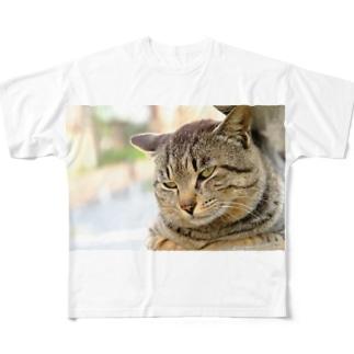 猫のファンサービス Full graphic T-shirts