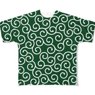 唐草模様 Full graphic T-shirts