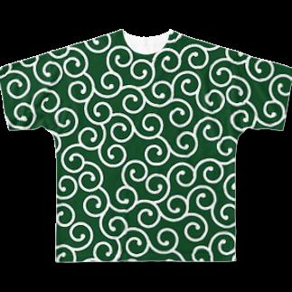 Loopの唐草模様 Full graphic T-shirts
