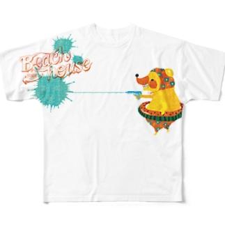 きぐまくんと水鉄砲2 Full graphic T-shirts