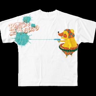 きぐまくんとゆかいな仲間たちのきぐまくんと水鉄砲2 Full graphic T-shirts
