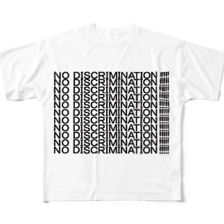 NO DISCRIMINATION!!!!! Full graphic T-shirts