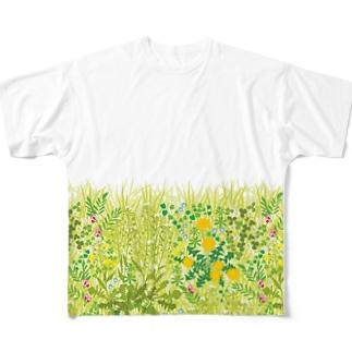 春の野 Full graphic T-shirts