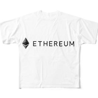 イーサリアム01 Full graphic T-shirts