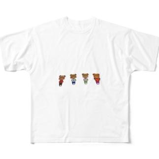 くまちゃん Full graphic T-shirts