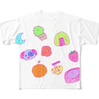 ぷるぷるちゃん Full graphic T-shirts