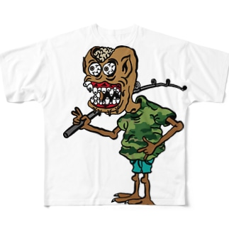 ボウズ男爵 Full graphic T-shirts