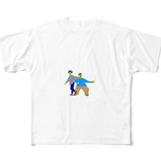 キャラクターロゴ Full graphic T-shirts
